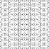 Vektor-nahtlose Schwarzweiss-Linie Art Geometric Doodle Pattern Abstract-Hintergrund Stockbild