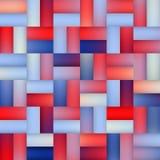 Vektor-nahtlose Steigung Mesh Square Blocks Pavement in den Schatten von Blauem und von Rotem Stockbilder