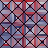Vektor-nahtlose Steigung Mesh Square Blocks Pavement in den Schatten von Blauem und von Rotem mit schwarzem Entwurf Stockbilder