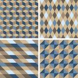 Vektor nahtlose Tilingsmuster - geometrisch lizenzfreie abbildung