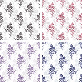 Vektor nahtlose Tilingsmuster - romantische Blumen vektor abbildung