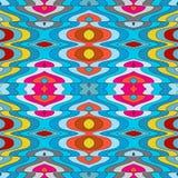 Vektor-nahtloser abstrakter gewellter Hintergrund Stockbilder