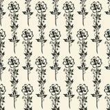 Vektor-nahtloser Blumenhintergrund Stockfotografie