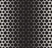 Vektor-nahtloser islamischer Schwarzweiss-Stern-geometrische Halbtonlinie Muster Lizenzfreie Stockfotografie
