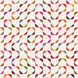 Vektor nahtloser Mehrfarben-Maze Arcs Geometric Pattern Lizenzfreie Stockfotos