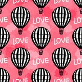 Vektor-nahtloser Muster-Heißluft-Ballon Stock Abbildung