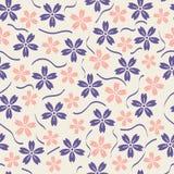 Vektor-nahtloser Muster-mit Blumenhintergrund stock abbildung