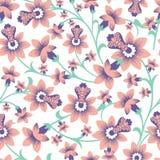 Vektor-nahtloser Muster-mit Blumenhintergrund vektor abbildung