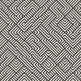 Vektor nahtloser unregelmäßiger Maze Geometric Pattern Stockfotografie