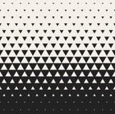 Vektor-nahtloser verwandelnder Dreieck-Halbtongitter-Steigungs-Muster-geometrischer Schwarzweiss-Hintergrund