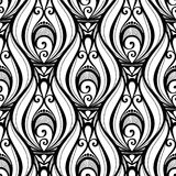 Vektor-nahtloses einfarbiges Damast-Muster Lizenzfreies Stockbild
