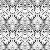 Vektor-nahtloses einfarbiges Damast-Muster Stockbilder
