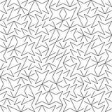 Vektor-nahtloses Geometrie Truchet-Muster Stockfotos