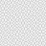 Vektor-nahtloses Geometrie Truchet-Muster Lizenzfreies Stockbild