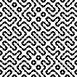 Vektor-nahtloses Geometrie Truchet-Muster Lizenzfreie Stockfotos