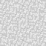 Vektor-nahtloses Geometrie Truchet-Muster Stockbild