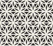 Vektor-nahtloses geometrisches Kreis-Dreieck-Form-Schwarzweiss-Muster Stockbild