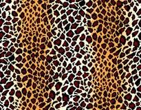 Vektor. Nahtloses Jaguarhautmuster Stockbilder