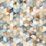 Vektor-nahtloses Mehrfarbensteigungs-Dreieck-Form-Gitter-geometrisches Muster stock abbildung