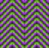 Vektor-nahtloses Muster der Ausbuchtungs-Rauten-optischen Täuschung Lizenzfreie Stockbilder