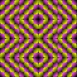 Vektor-nahtloses Muster der Ausbuchtungs-Rauten-optischen Täuschung Stockfoto