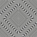 Vektor-nahtloses Muster der optischen Täuschung Stockfoto
