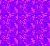 Vektor-nahtloses Muster: Hexagone, Blau und Rosa farbiger Hintergrund lizenzfreie abbildung