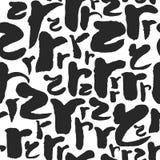 Vektor-nahtloses Muster mit Kalligraphie beschriftet R Lizenzfreies Stockbild