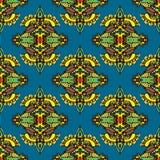 Vektor-nahtloses Muster-Textildamast-Design Lizenzfreies Stockfoto
