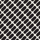 Vektor-nahtloses Schwarzweiss-Durcheinander kreist Muster ein Stockfoto