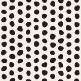 Vektor-nahtloses Schwarzweiss-Durcheinander kreist Muster ein Lizenzfreies Stockbild
