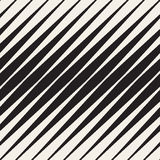 Vektor-nahtloses Schwarzweiss-Halbtonschrägstreifen-Muster Stockfoto