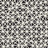 Vektor-nahtloses unregelmäßiges Dreieck-Schwarzweiss-Schachbrettmuster Stock Abbildung