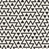Vektor-nahtloses unregelmäßiges Dreieck-Schwarzweiss-Schachbrettmuster Vektor Abbildung