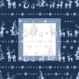 Vektor-nahtloses Weihnachten 3 Lizenzfreies Stockfoto