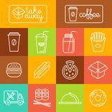Vektor nehmen Lebensmittel weg Lizenzfreies Stockbild