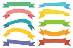 Vektor-Netz-Aufkleber-Fahnen und Aufkleber lizenzfreie abbildung