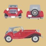 Retro bil för vektor Royaltyfri Bild