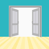 Vektor-offene Türen Stockfotos