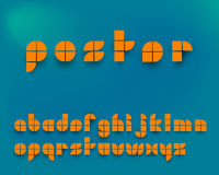 Vektor-orange grafischer Alphabet-Satz Stockfoto
