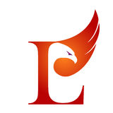 Vektor orange Hawk Initial L logo Royaltyfri Fotografi