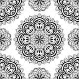 Vektor orientalisk sömlös bakgrund med mandalas Royaltyfria Bilder
