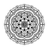 Vektor Ornamental-Mandala Lizenzfreies Stockbild