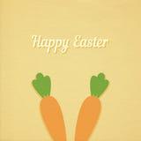 Vektor-Ostern-Karottenkarte Lizenzfreie Stockfotos