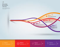 Vektor-pädagogische Konzept-Schablone Stockfotografie