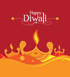 Vektor-Papier Diwali-Design-Schablone Lizenzfreie Stockfotografie