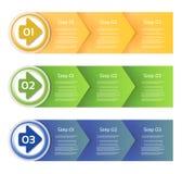 Vektor-Papier-Fortschritts-Hintergrund/Produktauswahl oder Version Lizenzfreies Stockbild