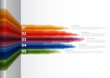 Vektor-Papier-Fortschrittshintergrund/-Produktauswahl oder -versionen Stockfotografie
