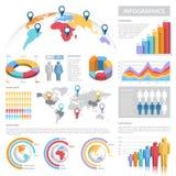 Vektor-Pastell- Farbe-Infographics-Satz lizenzfreie abbildung