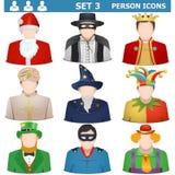 Vektor Person Icons Set 3 Royaltyfri Foto